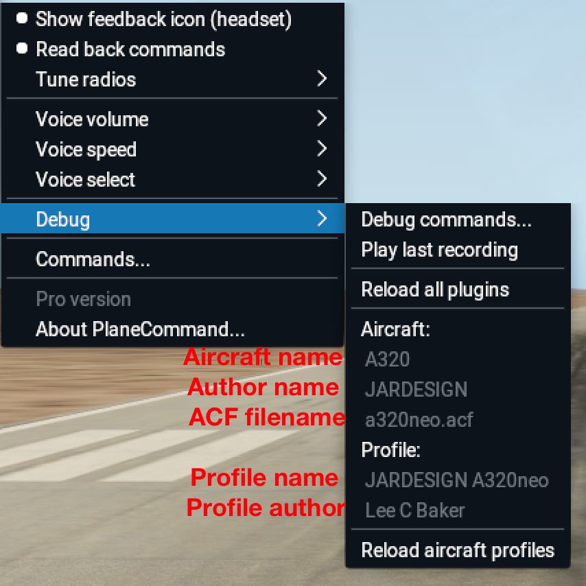 Profiles - PlaneCommand - Voice Control for X-Plane