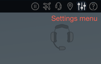 xp11 settings menu